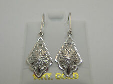 Lever Back Dangle Earrings Style 629 Solid 14K Solid White Gold Interchnageable