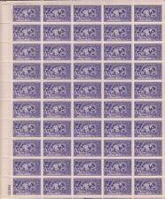 US #855 Baseball 1939 Full Sheet of 50 Mint N.H.