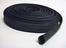 Vulcan Black Heat Protector Woven Sleeve Spark Plug Wire 25ft 7.62m Made In USA