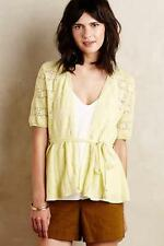 nwt ANTHROPOLOGIE KNITTED & KNOTTED sz XS LACE STITCH cardigan in yellow