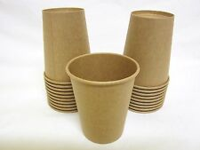 40 PACK 250ml  BROWN KRAFT PAPER DRINK CUPS RETRO VINTAGE CRAFT CUP