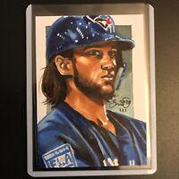 Bo Bichette Blue Jays 2020 1/1 hand drawn original art sketch card aceo RC