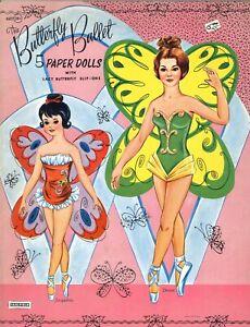 VINTGE 1960s BUTTERFLY BALLET PAPER DOLL LASER REPRODUCTION~ORG SZ  UNCUT NO1 SL
