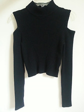 NWOT Bebe Cold Shoulder Black Top Size XS