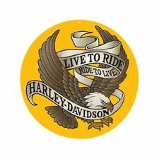 Harley-Davidson Round Decorative Plaques & Signs
