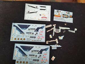 Decals Heller 80109 80188 80149 Porsche 962 926 Le Man Plus Extras 1/43