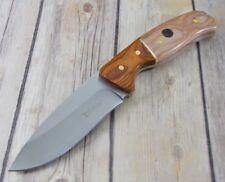 Couteau de Chasse Elk Ridge Acier 3Cr13 Manche Bois Etui Simili Cuir ER20019DN