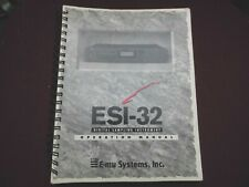 EMU ESI-32 SAMPLER : OPERATION MANUAL -ENGLISH-  ESI 2000 ESI4000
