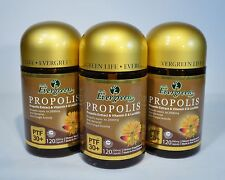 EVERGREEN BEE PROPOLIS PTF 30+ 120 CAPSULES MADE IN NEW ZEALAND 3 LOT