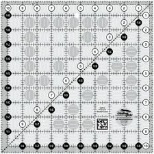 """Creative Grids 10 1/2"""" Square Ruler Sewing and Quilting Ruler"""