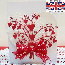 Valentine Wedding Love Heart Bouquet Die metal cutting die cutter UK Fast Post