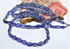 "RARE NATURAL CORNFLOWER BLUE FACETED KYANITE BEADS 18"" STRAND 6-8mm 75ctw AAA+++"