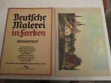 Pittura tedesca in 10 colori romantici, 10 fogli, Werner memoriam del 1930-40