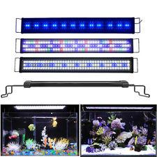 LED Acquario Spettro Completo Illuminazione Lampada Bianco + Blu Con Timer
