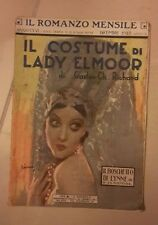 IL ROMANZO MENSILE IL COSTUME DI LADY ELMOOR GASTON RICHARD DICEMBRE 1928