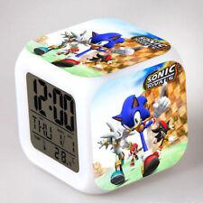 Divertido juego de Sonic el Erizo Cambio De Color Luz De Noche Despertador Niños Juguete S169