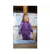 Girl's Waterproof Coat Jacket Hooded Fleece purple 12-24m Children Cheapest! New