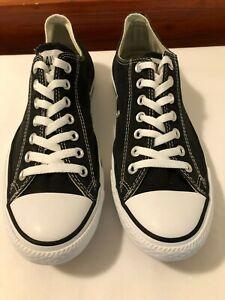 Mans Converse Plimsolls, Black, canvas, white laces. Size UK 9   EU 42.5