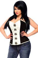 Daisy Corsets - Top Drawer Brocade Steel Boned Corset Top W/ Buckles - Brown - L