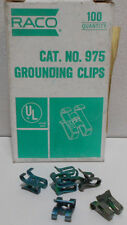 Lot / Box OF 100  RACO 975 GROUNDING CLIPS