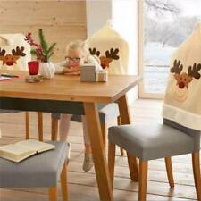 Christmas Products Elk Style Room Decoration Beige 1 PC Xmas Chair Cover FM