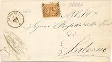 P7152   Salerno, Laurino, ann. numerale a punti + DC 1877