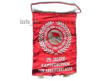DDR Kampfgruppen Wimpel /Tisch- Fahne 1978 East german Combat groups flag for Ta