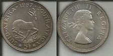 SUD AFRICA 5 SHILLINGS 1957 TONED P/L