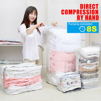 5 Type Vacuum Seal Storage Bag Extrusion Exhaust Wide-Side Space Saver Clear Bag