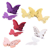 50pcs Precise Cut Butterfly Design Name Place Card for Wedding Anniversary Party