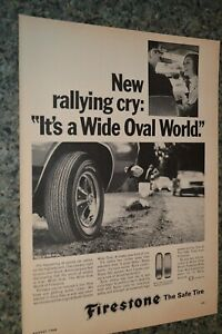 ★★1968 BARRACUDA FIRESTONE SUPER SPORTS WIDE OVAL TIRE ORIGINAL ADVERTISEMENT AD