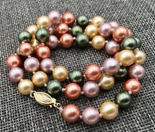 AAA 8MM SOUTH SEA Multicolor shell PEARL NECKLACE 18""