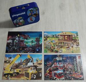 Playmobil Puzzle Koffer mit 4 Puzzles, gebraucht