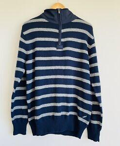 Daniel Hechter Paris Vintage New Wool Men's Jumper Pullover Sweater Size L