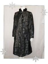 G - Superbe Manteau Fantaisie Noir Les Filles des Sables Taille  42