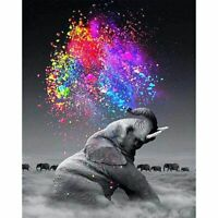 Colourful Elephant Cloud Van Gogh Style Paint By Numbers Paint Included Canvas
