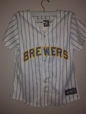Majestic Mlb Milwaukee Brewers Baseball Jersey Ryan Braun 8 Women's Teen Girls M