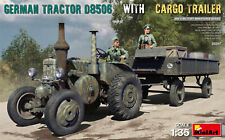 MiniArt 35317 German Tractor D8506 and Cargo Trailer 1/35 Scale Model
