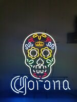 (L@@K) Corona Extra Beer Neon light up sign Day of the Dead Sugar Skull mib rare