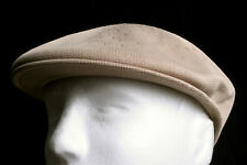 New Kangol Tropic 504 Khaki Tan Brown Kangaroo Golfers Flat Cap Hat - Size LARGE