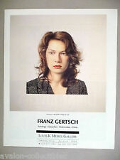 Franz Gertsch Art Gallery Exhibit PRINT AD - 1990 ~~ Christina IV