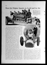 Bluebird Sir Malcolm Campbell 1933 pictorial Land Speed Record Holder