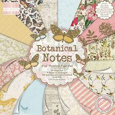 """NOTE Botaniche-PRIMA EDIZIONE carte - 6""""x6"""" pacchetto di documenti"""