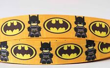 1M X 22mm Grosgrain Ribbon Craft DIY Cake Decorations Hair Bows - Cute Batman