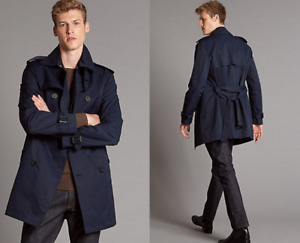 M&S AUTOGRAPH  Slim Fit Cotton Rich Trench Coat with Stormwear™ PRP £149