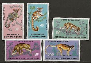 Central Africa 1971 Wildlife Fauna Tiere Dieren Animals Monkey compl. set MNH