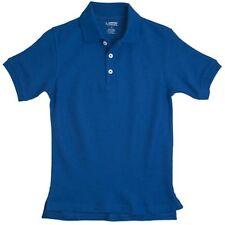 Polo Shirt School Uniforms Royal Blue S/S French Toast 10 Unisex Cotton Blend