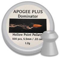 Apogee Plus Hollow Point hunting Air gun pellets,.22 Cal /5.5mm Qty 500 free P&P