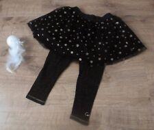 Catimini***Ensemble jupe Legging 18 mois Noir tulle et pois doré Idéal Fête