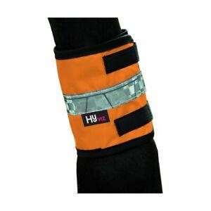 Horse pony Reflective Leg Bands yellow orange pink ****Free uk postage***